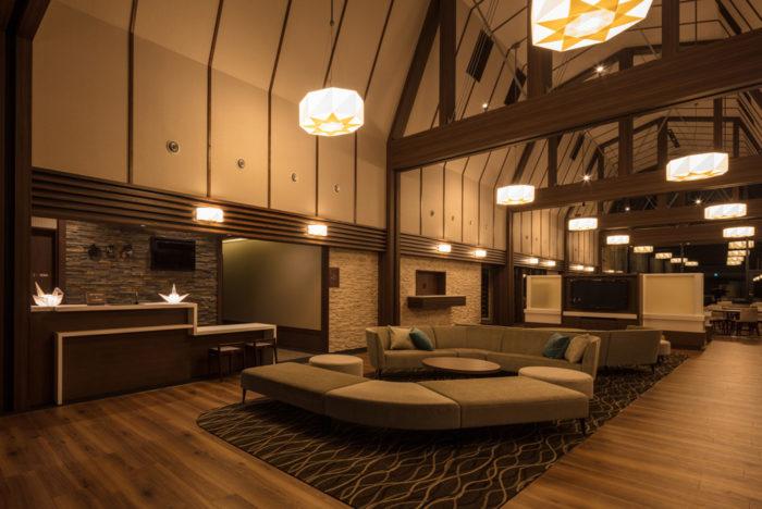 ニセコ 白雲荘<br> 建築設計 株式会社ISA アーキテクツ 一級建築士事務所<br> 照明器具 デザイン設計/製作 有限会社 イリス